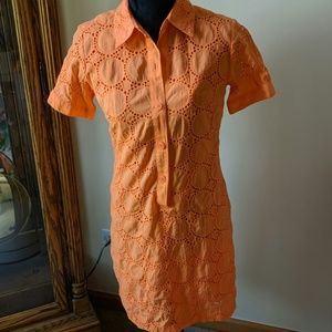 REPOSHED BEAUTIFUL ORANGE DRESS SIZE 6